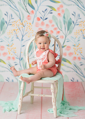 Maya Floral photography backdrop & background