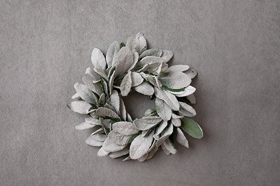 Digital Backdrop | A Perfect Winter Coll. | Frosted Winter Wreath I - HSD Photography Backdrops
