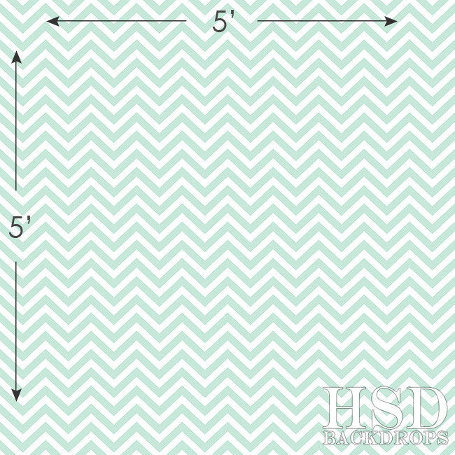 Photography Backdrop | Mint Chevron