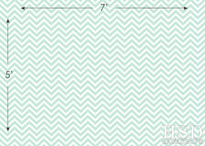 Mint Chevron photography backdrop & background