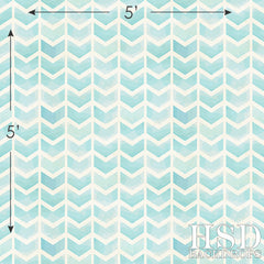 Photography Backdrop | Aqua Blue Chevron Arrows