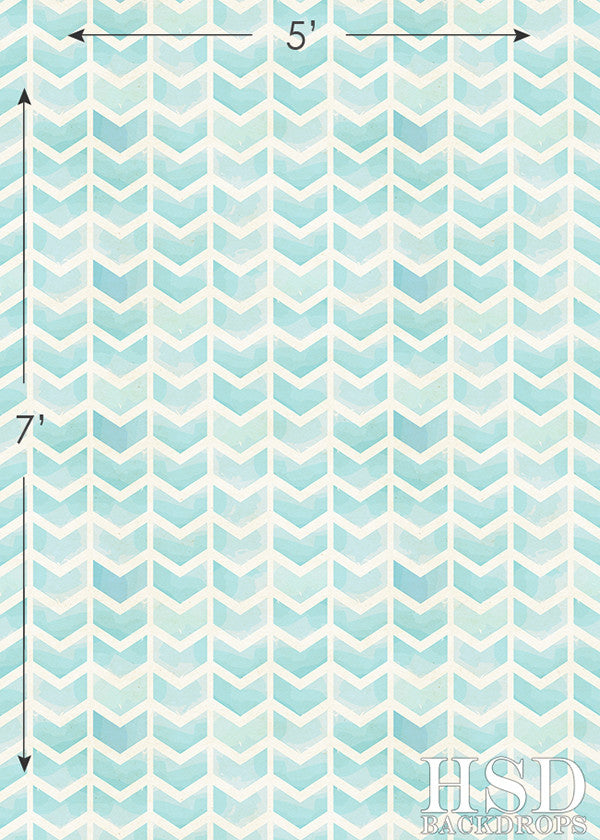 Aqua Blue Chevron Arrows photography backdrop & background