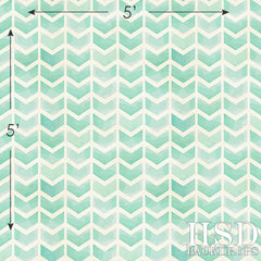 Photography Backdrop | Turquoise Green Chevron Arrows