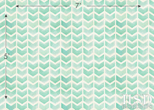 Turquoise Green Chevron Arrows photography backdrop & background
