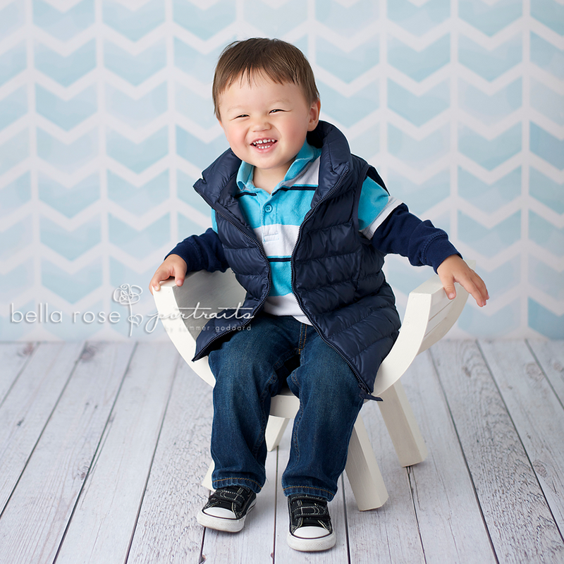 Blue Chevron Arrows photography backdrop & background