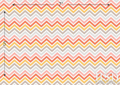 Photography Backdrop | Pink Orange Chevron