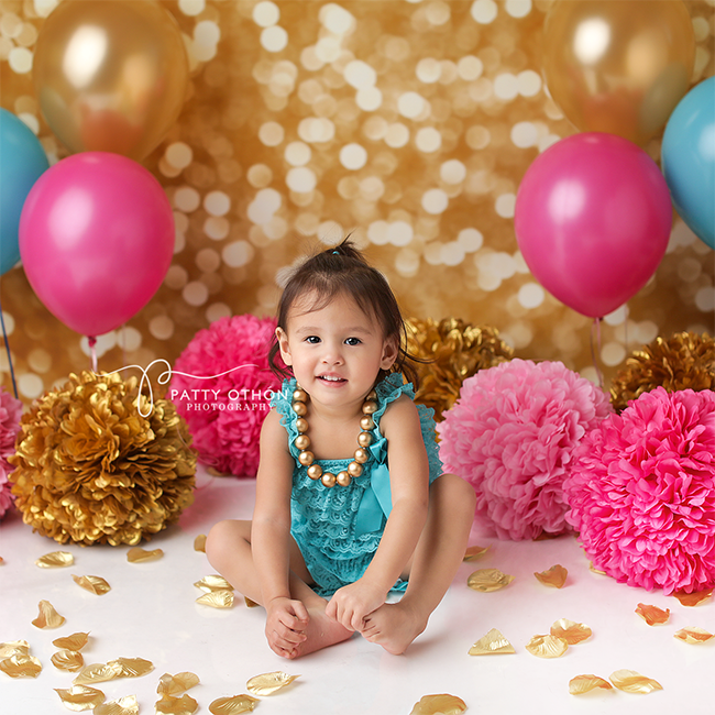 Soft Gold Bokeh photography backdrop & background