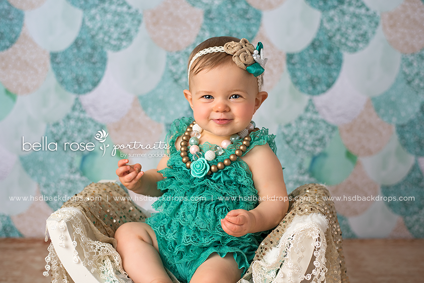 Teal Mermaid Tail - HSD Photography Backdrops