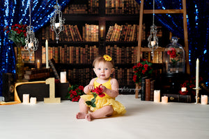 Beauty's Library Set Up - HSD Photography Backdrops