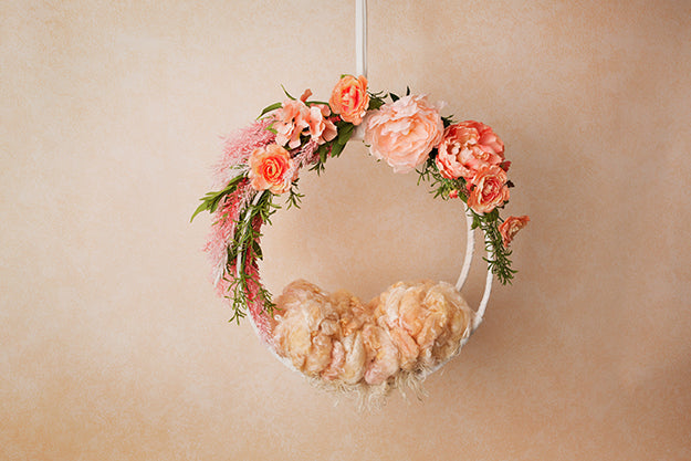 Creamy Peach | Hanging Basket III Coll. | Digital photography backdrop & background