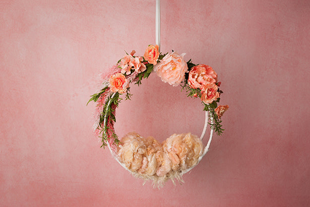 Digital Backdrop | Hanging Basket III Coll. | Peachy Pink