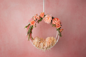 Peachy Pink | Hanging Basket III Coll. | Digital - HSD Photography Backdrops