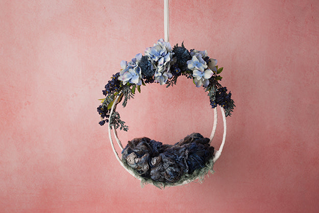 Sapphire | Hanging Basket IV Coll. | Digital photography backdrop & background
