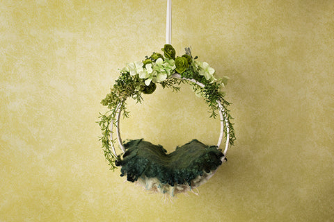 Digital Backdrop | Hanging Basket II Coll. | Emerald