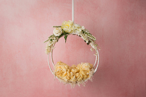 Digital Backdrop | Hanging Basket I Coll. | Pink Lemonade