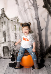 Halloween Photography Backdrop | Haunted House