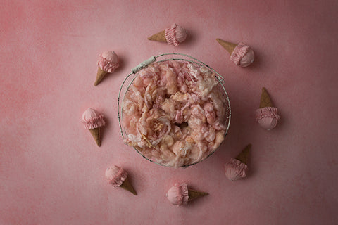 Digital Backdrop | Ice Cream Cone Coll. | Strawberry