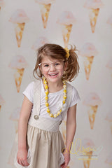 Summer Photography Backdrop | Ice Cream Shoppe Pink