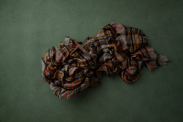 Digital Backdrop | Autumn Plaid Coll. | Keeping Cozy Green