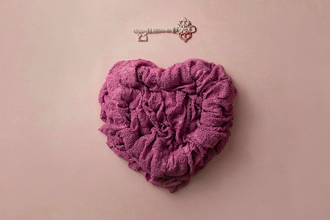 Newborn Digital Backdrop | Key to my Heart Pink