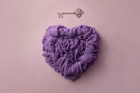 Newborn Digital Backdrop | Key to my Heart Purple