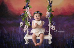 Fall Photography Backdrop Background | Lavender Field