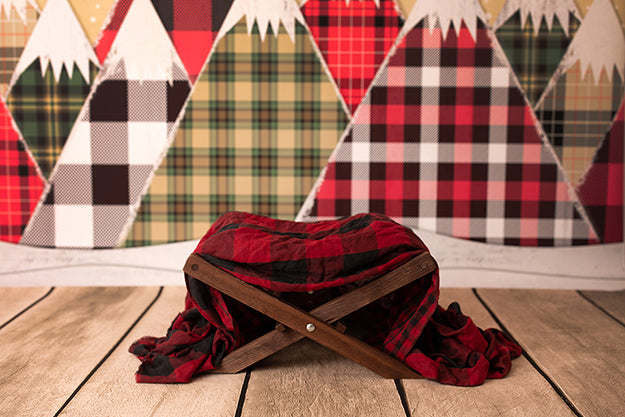 Digital Backdrop | Christmas Plaid Coll. | Little Lumberjack