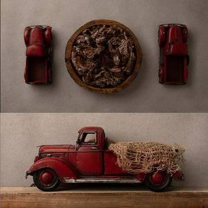 Little Red Truck Collection | Digital photography backdrop & background