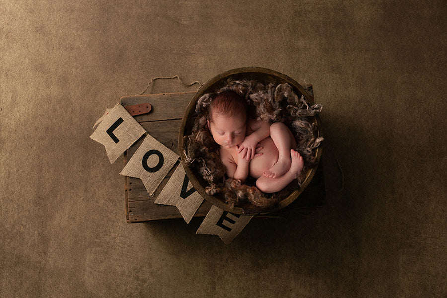 Newborn Digital Backdrop | Love Banner - HSD Photography Backdrops