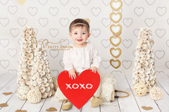Valentine's Day Photography Backdrop | Heart of Gold