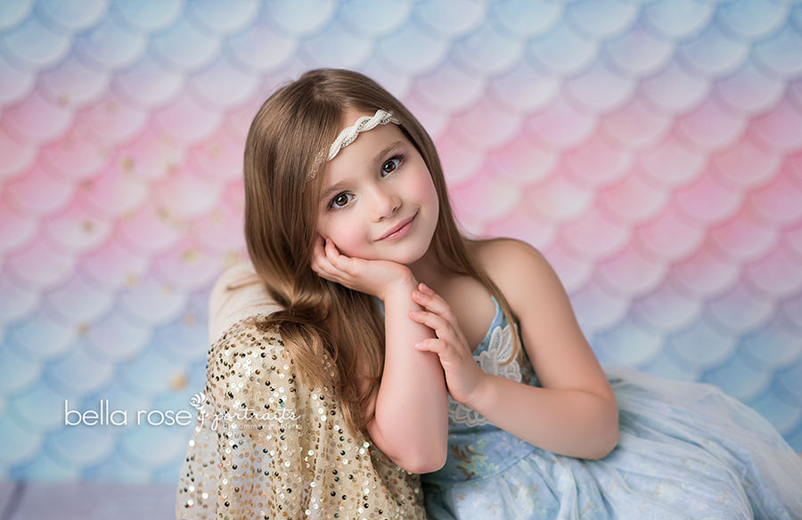 Let's Be Mermaids photography backdrop & background