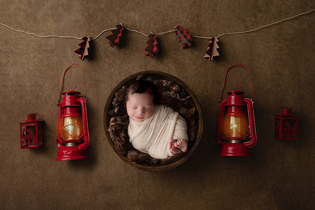 Merry & Bright II | Christmas Lantern Coll. | Digital - HSD Photography Backdrops