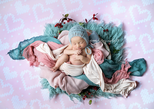 Stitched Hearts photography backdrop & background