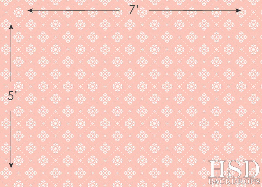 Pink & White Textile photography backdrop & background