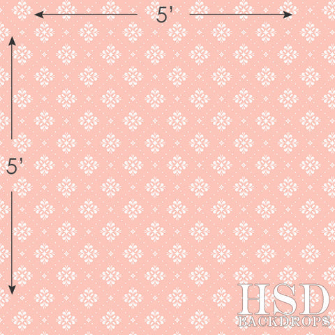 Photography Backdrop | Pink & White Textile
