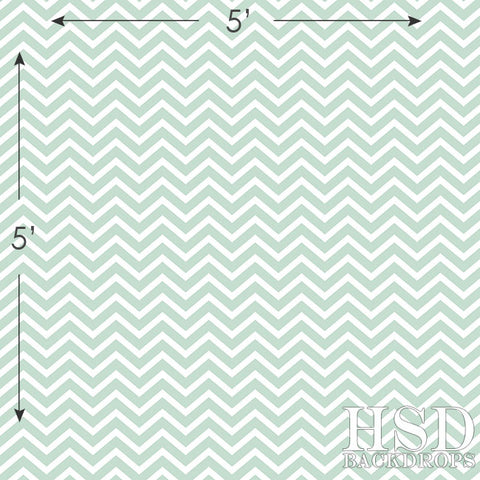 Photography Backdrop | Seafoam Chevron