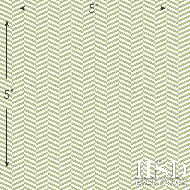 Photography Backdrop | Green Vintage Chevron