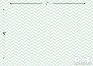 Seafoam Chevron II photography backdrop & background