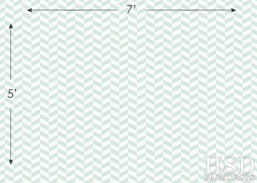 Photography Backdrop | Seafoam Chevron II