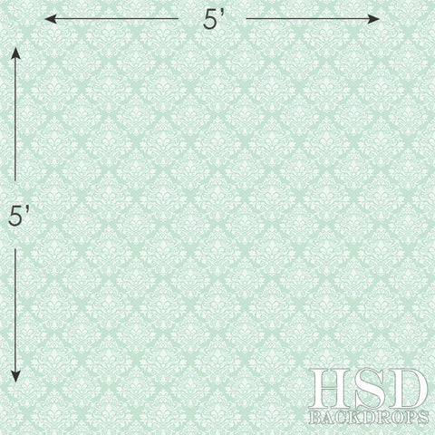 Photography Backdrop | Mint Damask