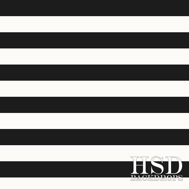 Black & White Stripes - HSD Photography Backdrops