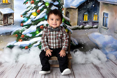 Christmas Photography Backdrop | Santa's Coming to Town