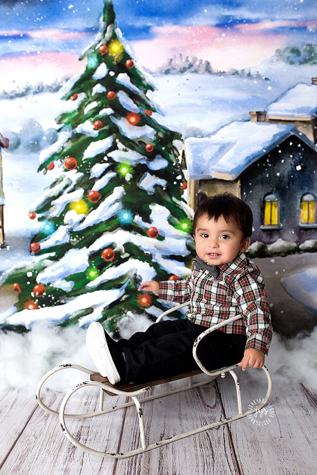 Christmas | Santa's Coming to Town - HSD Photography Backdrops
