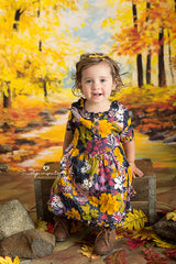 Fall Photography Backdrop Background | Autumn Woods