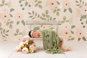 Faith Floral photography backdrop & background