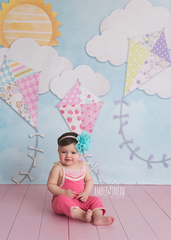 Spring Photography Backdrop | Fly a Kite