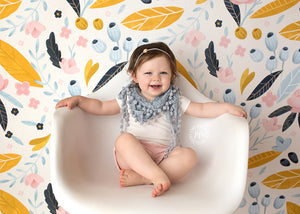 Avery Floral photography backdrop & background