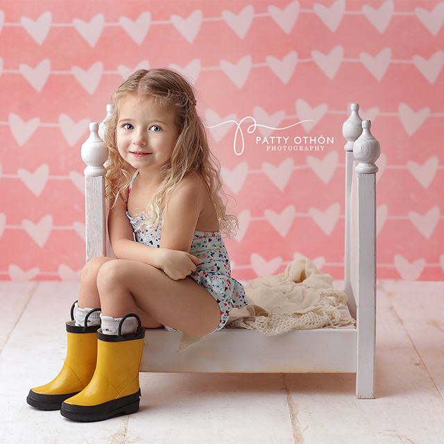 Valentine's Day Photography Backdrop | Adore