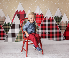 Christmas Photography Backdrop Background | Tartan