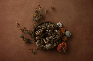 Pumpkin Centerpiece Brown | Lovely Leaves Coll. | Digital photography backdrop & background